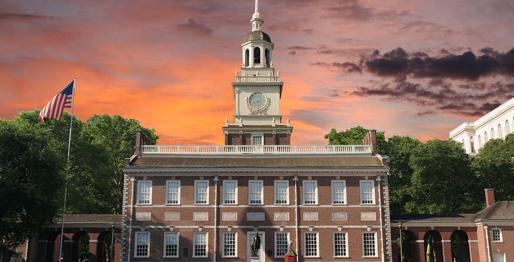 En Philadelphia se firmó la declaración de independencia que dio origen a los Estados Unidos como país