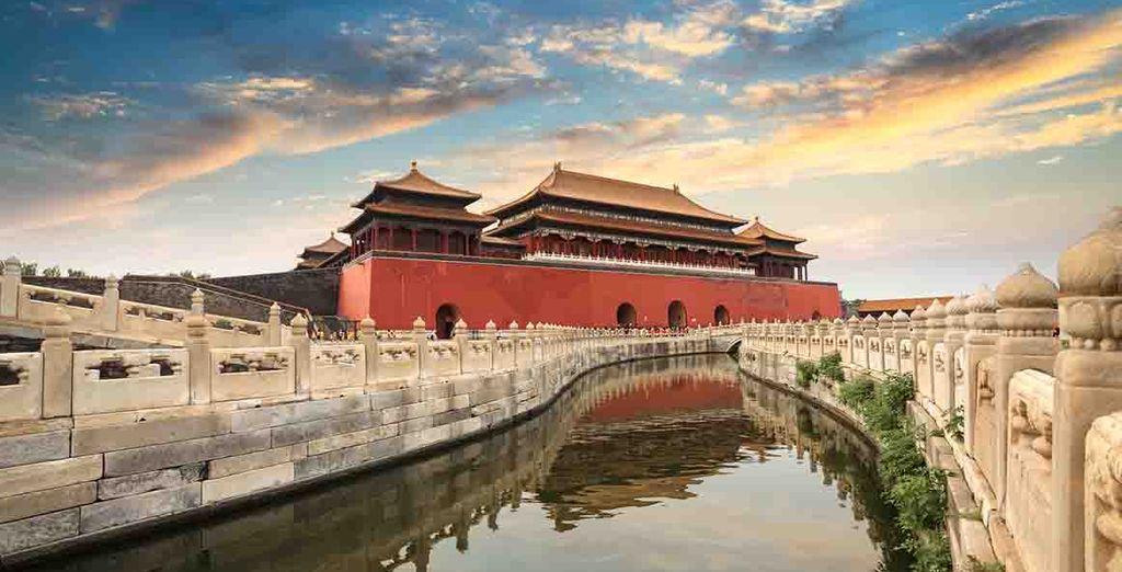 El Palacio Imperial en La Ciudad Prohibida en Beijing