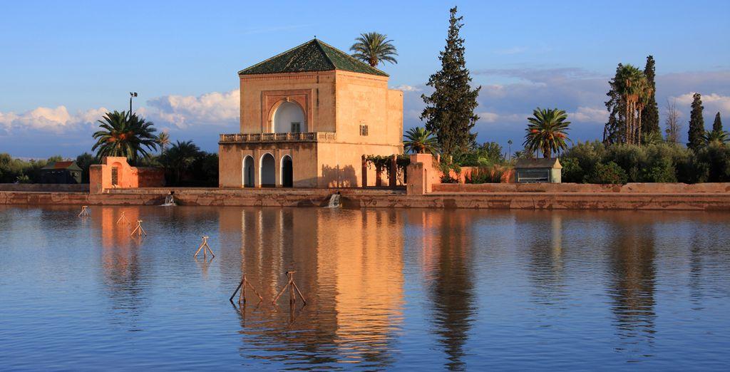 Acércate a los Jardínes de la Menara y respira paz y tranquilidad