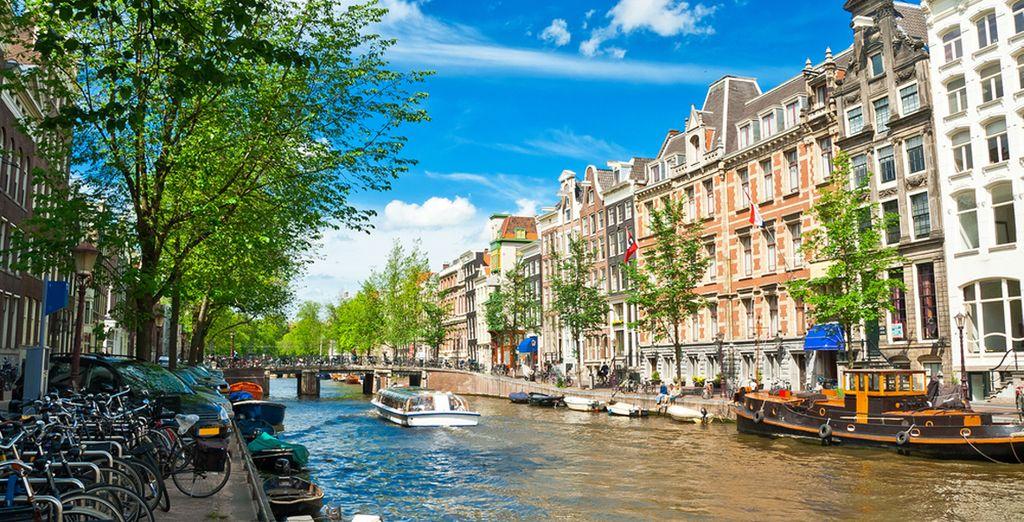 Goza de las magníficas vistas de la ciudad...