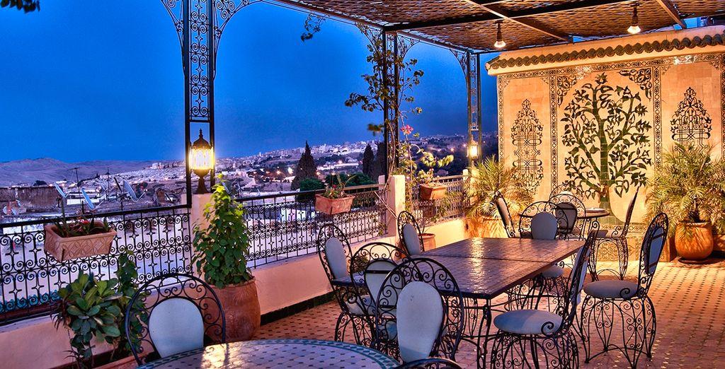 Espectaculares vistas a la ciudad desde la terraza