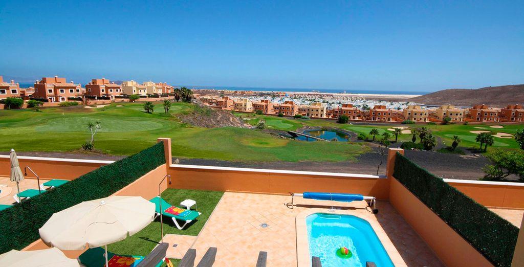 Hermosas villas rodeadas de campos de golf