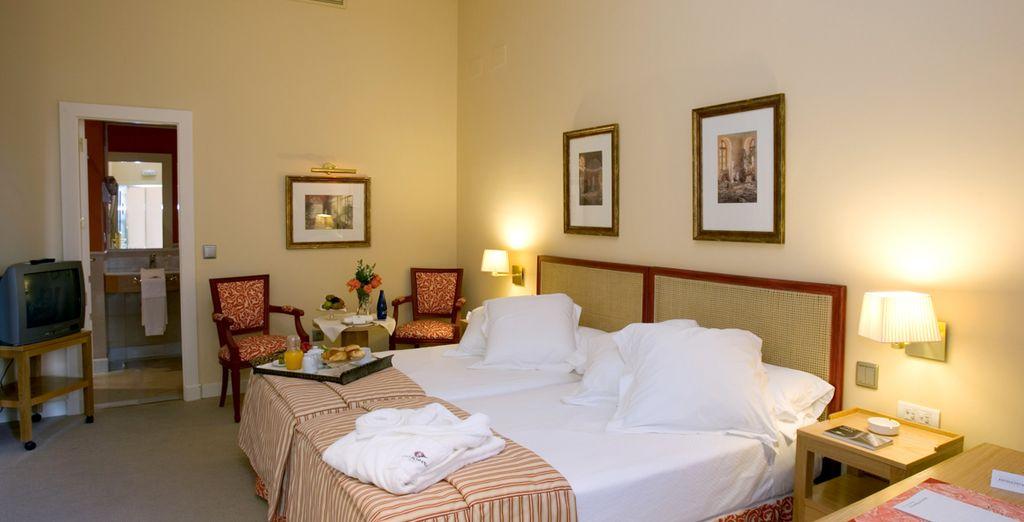Podrás elegir alojarte en una confortable habitación Superior