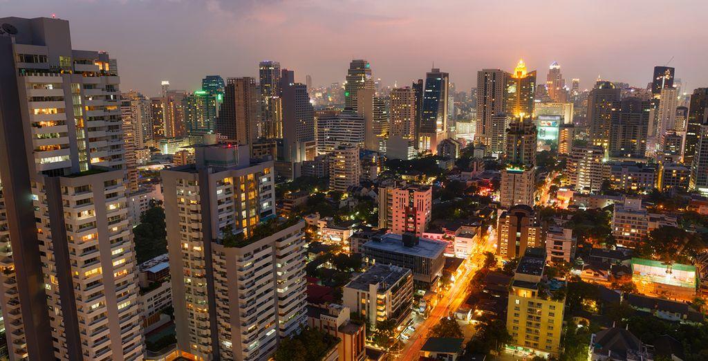 La cosmopolita ciudad de Bangkok...