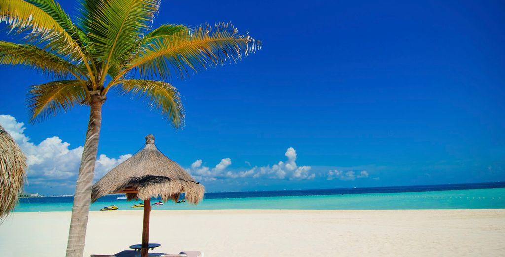 Kilómetros de arena blanca y aguas turquesas
