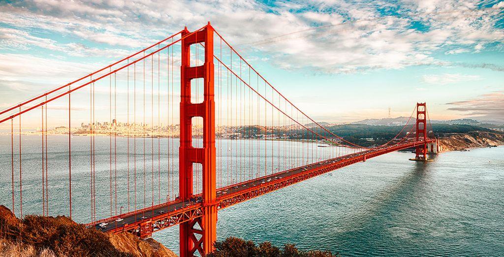 Cruzarás el mundialmente famoso Puente Golden Gate