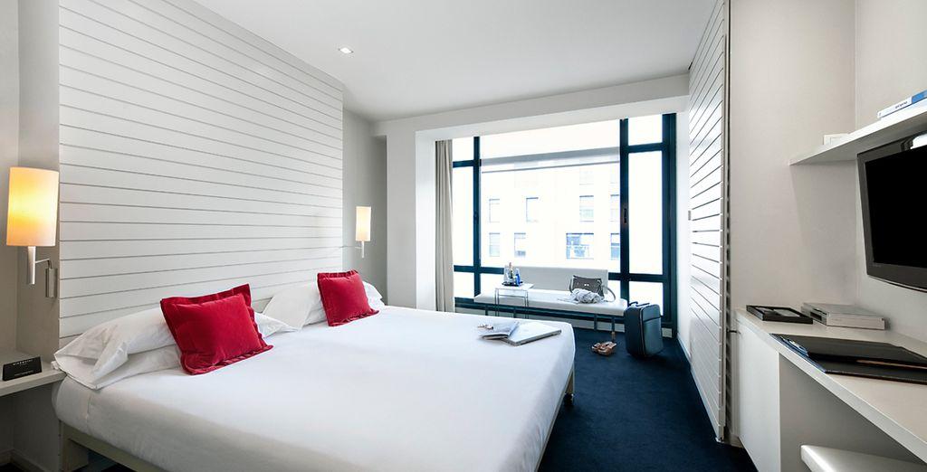 ¡Tu habitación City Double con vistas al Guggenheim te está esperando!