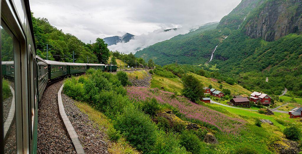 El cuarto día tendrás la opción de viajar en el tren de Fläm