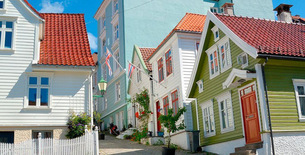Pasea por las calles de la singular Bergen