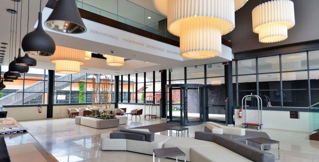 Un moderno hotel