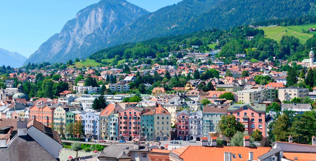 Un enclave perfecto rodeado de las imponentes montañas nevadas de los Alpes