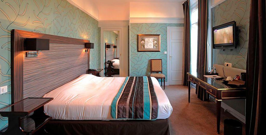 Con habitaciones clásicas y elegantes