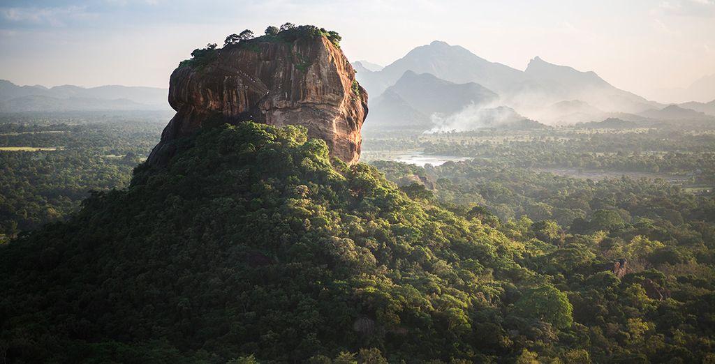 ... sin olvidar Sigiriya Lion Rock Fortress
