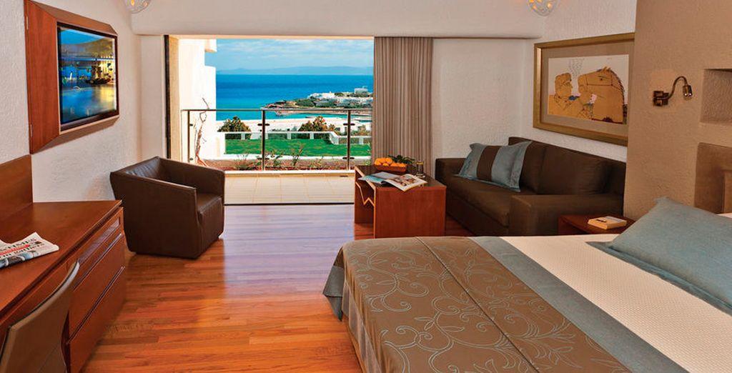 Puedes alojarte en una habitación Porto con vistas al mar