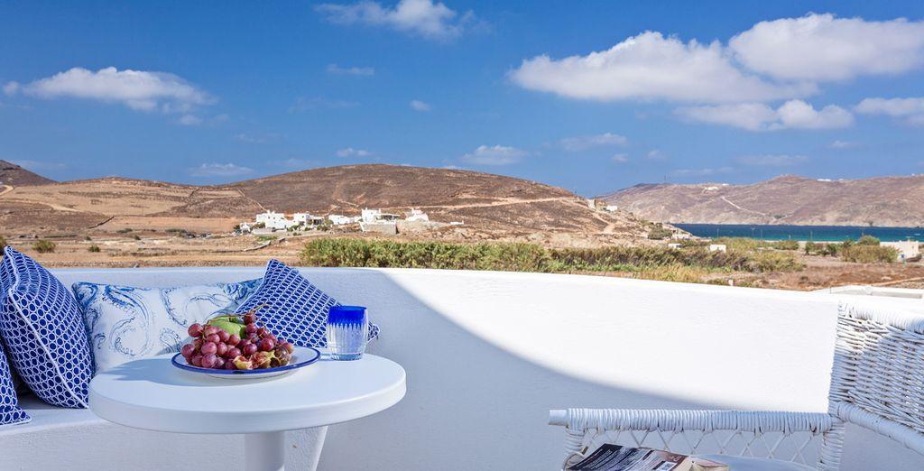 Relájate mientras observas el auténtico paraíso de Mykonos