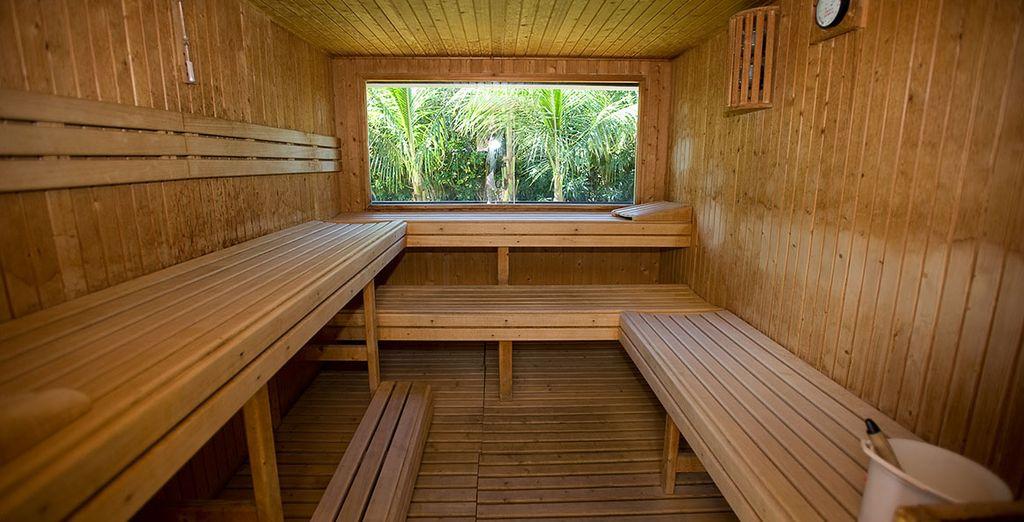 Relájate en la sauna