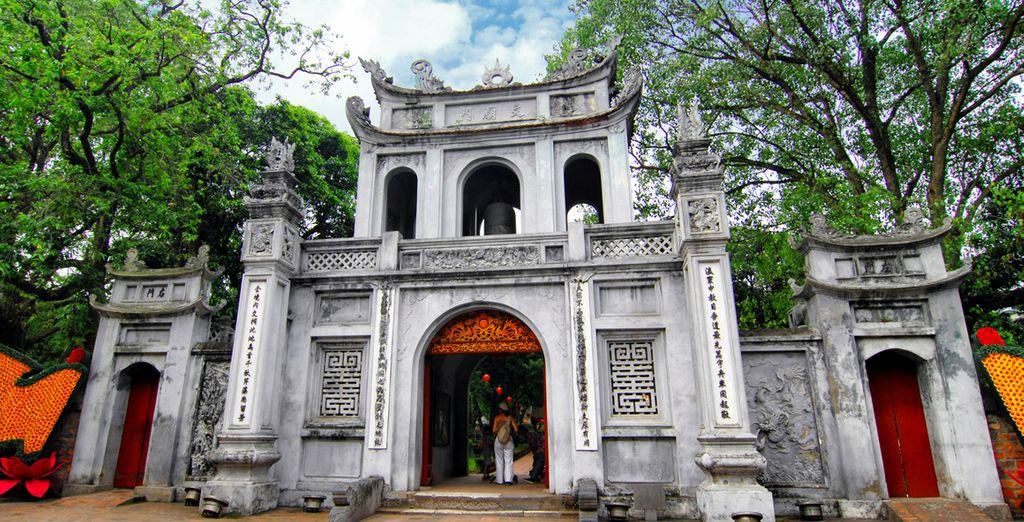 El Templo de la Literatura en Hanói fue la primera universidad de Vietnam
