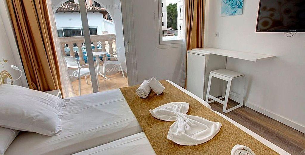 Utsed podrá alojarse en una habitación Doble con balcón