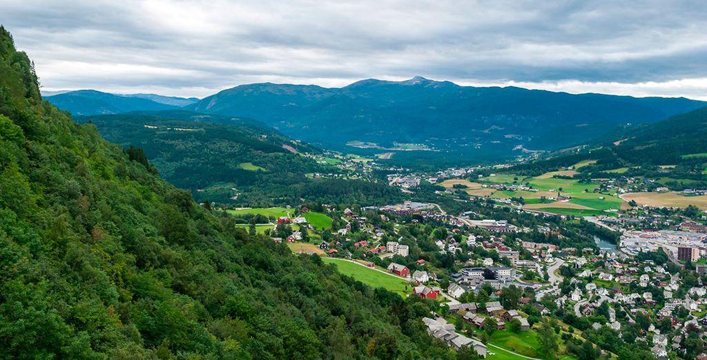 Harás un alto en la ciudad de Voss para visitar la iglesia de Vangskyrkja