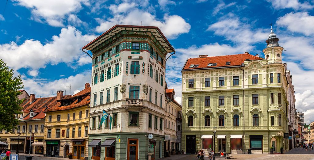 Pequeña y acogedora, Liubliana ofrece un casco antiguo coqueto erigido en torno al río Ljublianica