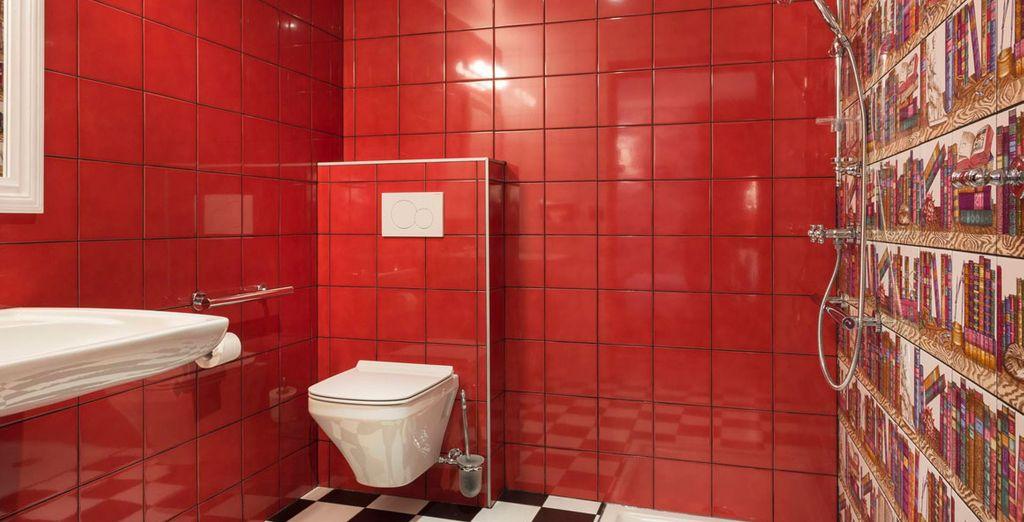 Completo baño privado equipado hasta el último detalle