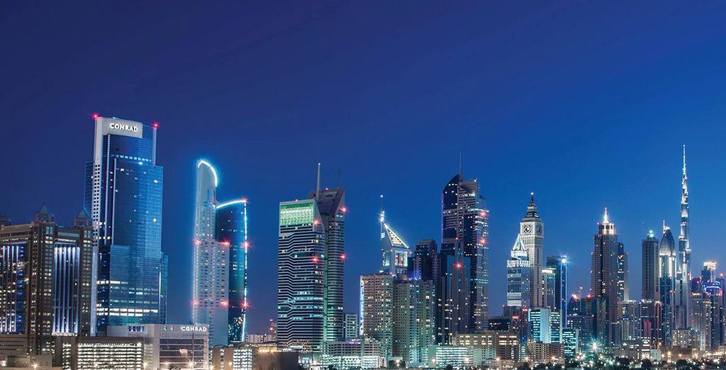 En pleno distrito comercial y financiero de Dubái