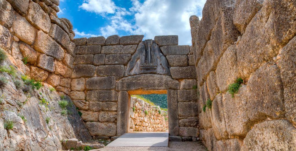 Puerta del León en Micenas