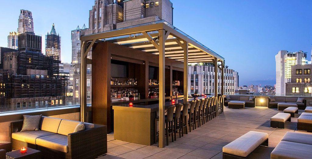 Sube a la azotea de tu hotel durante tu estancia en Nueva York