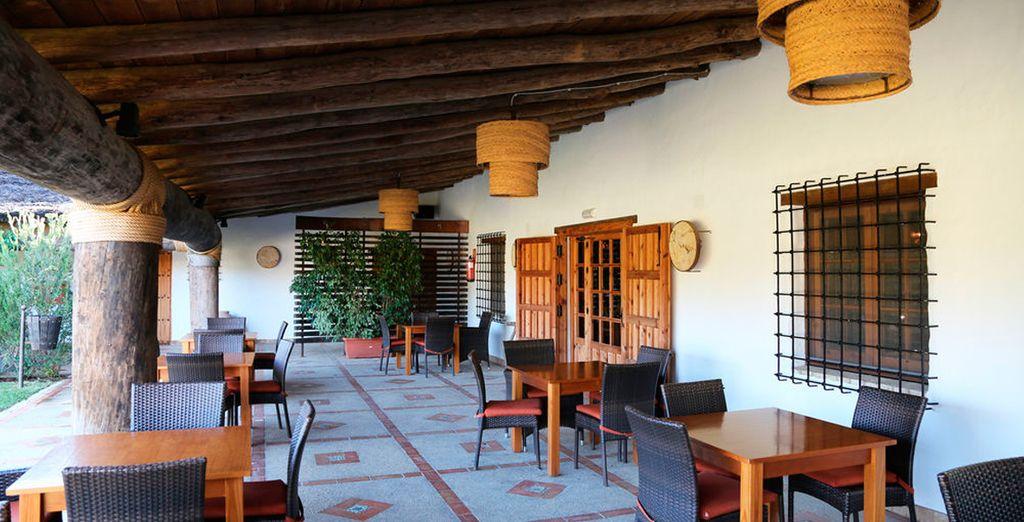 Un lugar especial para la relajación, la lectura y para respirar el aire puro de Doñana