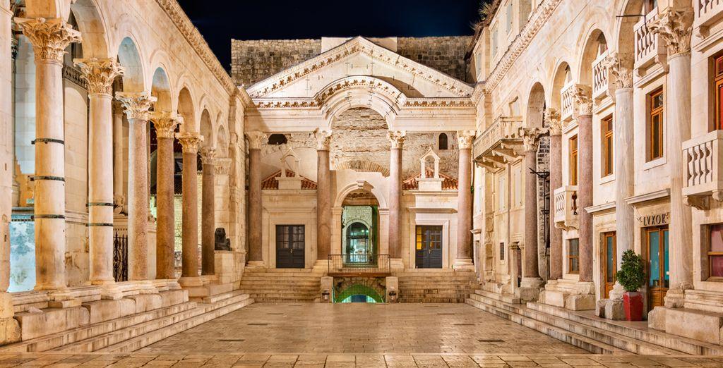 El Palacio Diocleciano, uno de los palacios románicos que mejor se conservan en el mundo
