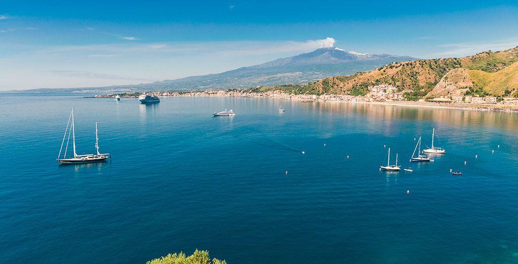 La bahía de Taormina te aportará todo el relax que necesitas