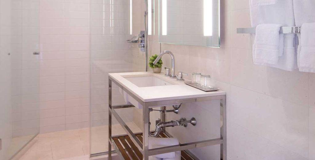El baño te proporciona todas las facilidades que puedas necesitar