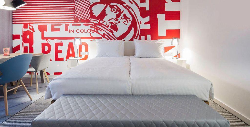 Descansa en tu habitación Corner Studio con vistas a la ciudad