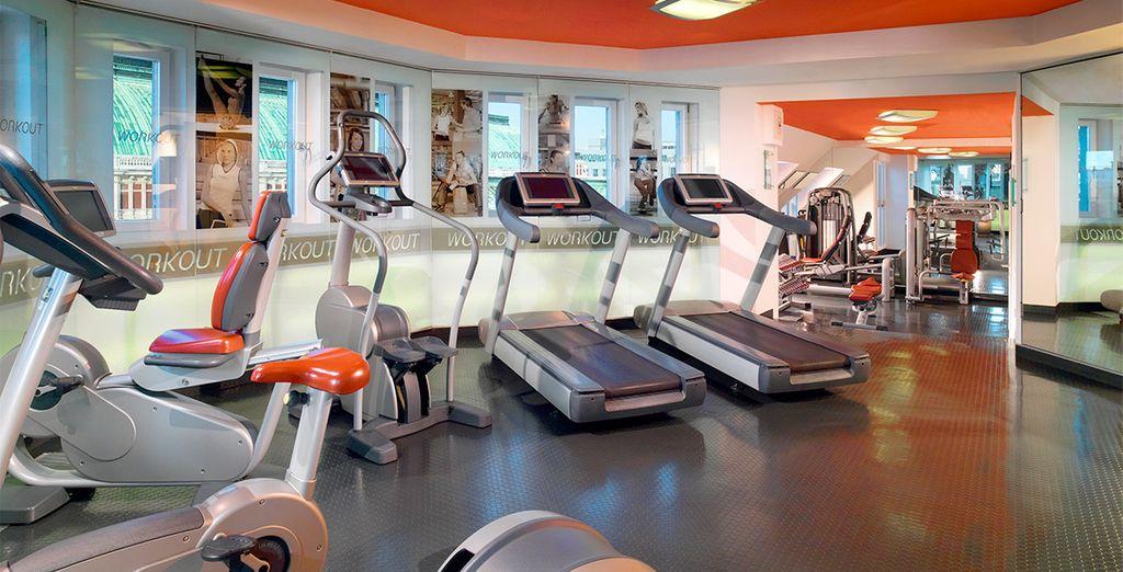 Mantente en forma en el gimnasio