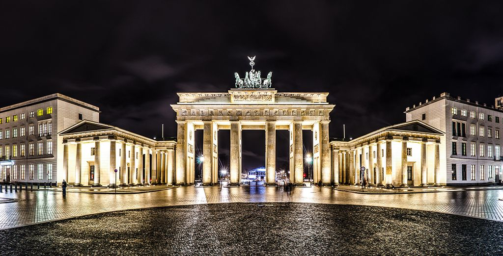 Panorámica de la Puerta de Brandenburgo