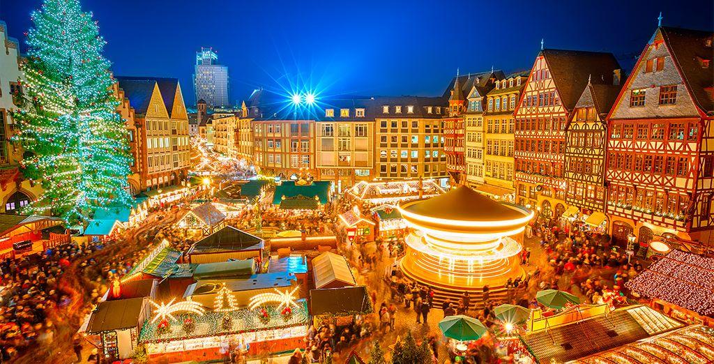 No puedes perderte el espectacular ambiente navideño de Frankfurt