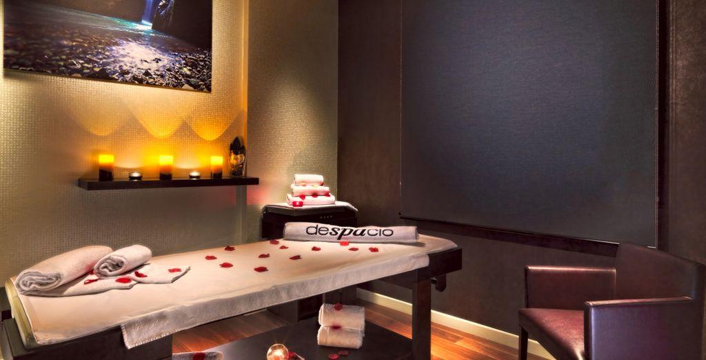Date un capricho con un masaje en el spa del hotel