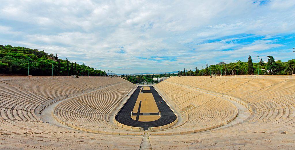 El estadio Panathenaiko, el primer estadio de los Juegos Olímpicos modernos, celebrados en 1896
