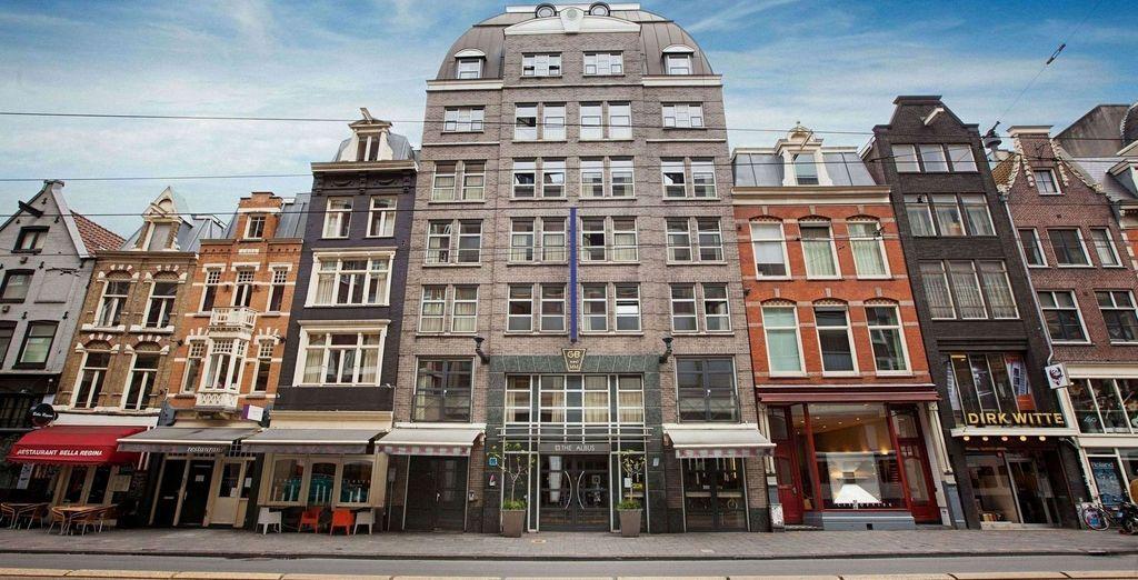 El Albus Hotel Amsterdam City Centre 4* te impresionará