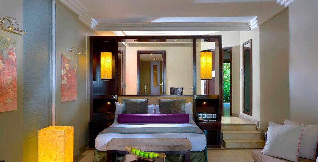 O en una habitación Deluxe con terraza privada y jacuzzi