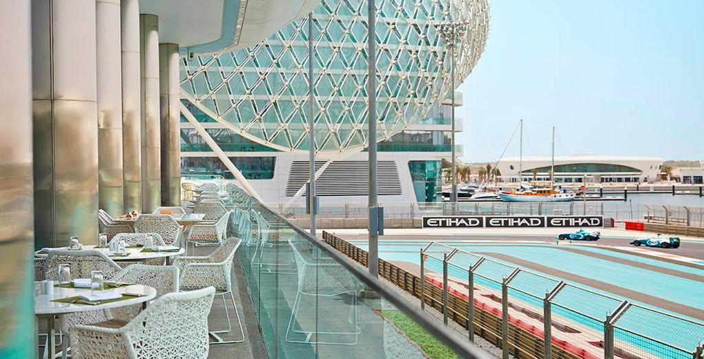 Un hotel con vistas al circuito de Fórmula 1