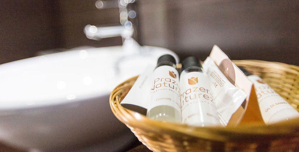 Encontrarás productos de baño como cortesía