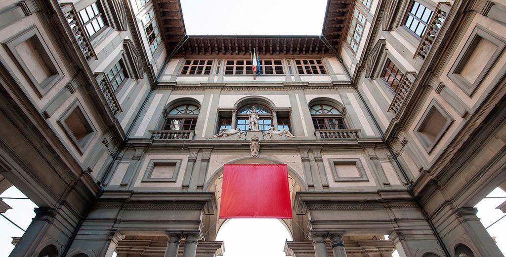Recuerda visitar la Gallería Uffizi