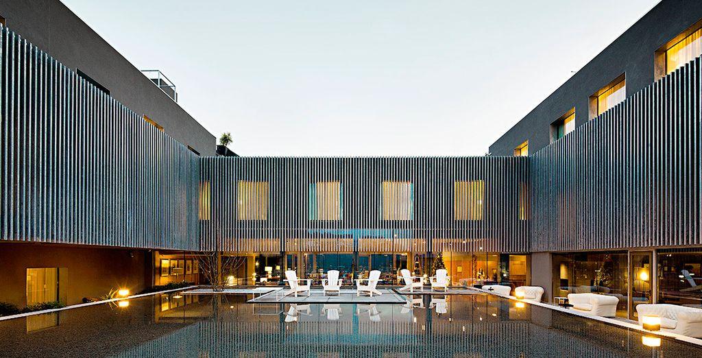 Un hotel elegante y sofisticado...