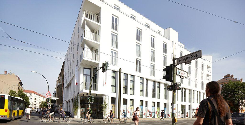 Situado en el moderno barrio de Friedrichshain