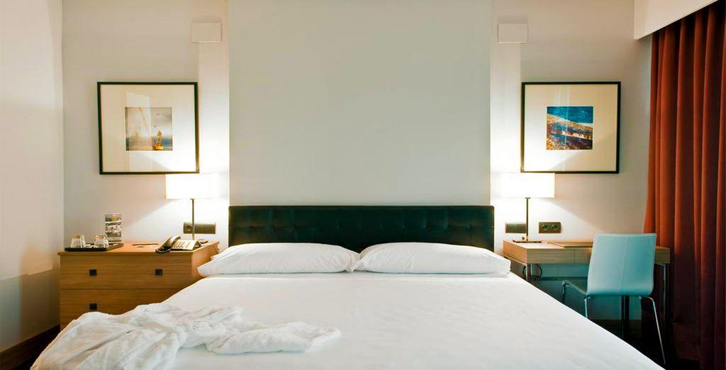 Gozarás de una mejora a una elegante habitación Superior
