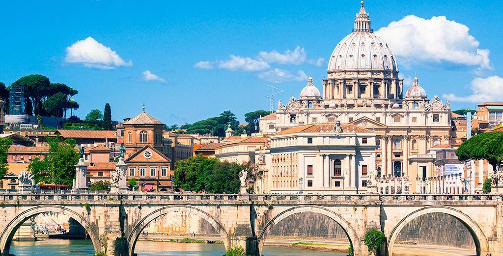 Il Cantico se ubica a muy escasa distancia de Ciudad del Vaticano