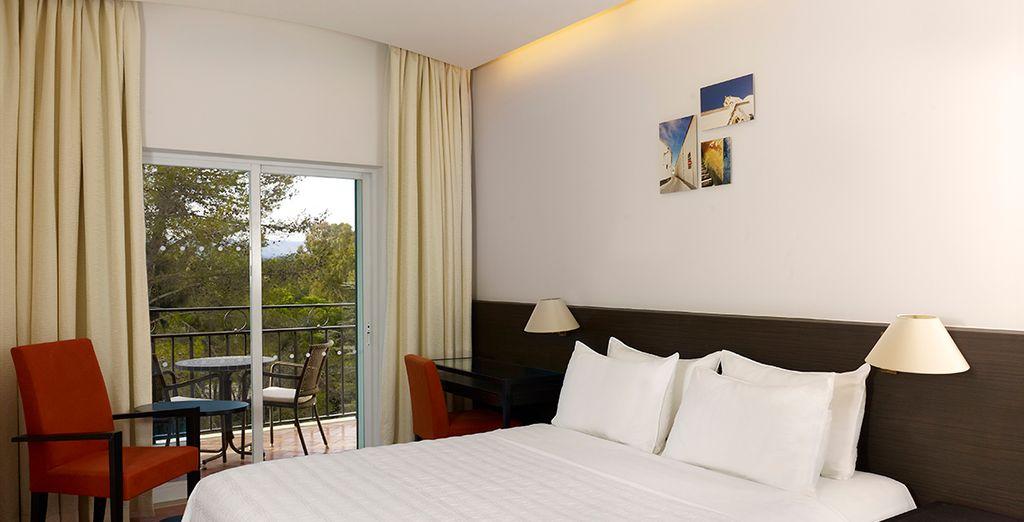 Descansa en tu habitación Doble con vistas a la montaña...