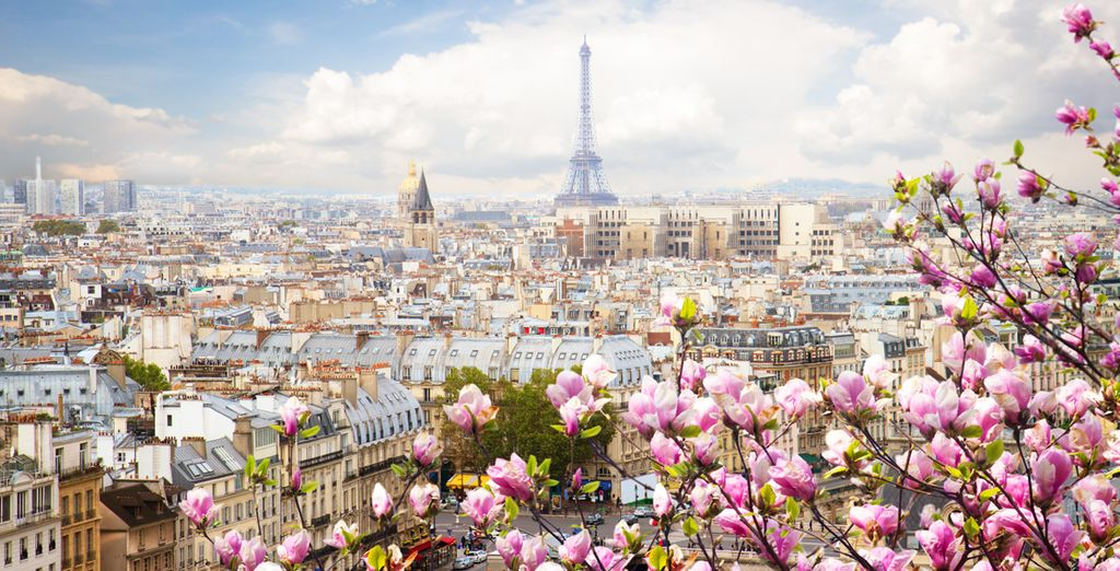 Visita la impresionante Torre Eiffel, te dará la bienvenida a París