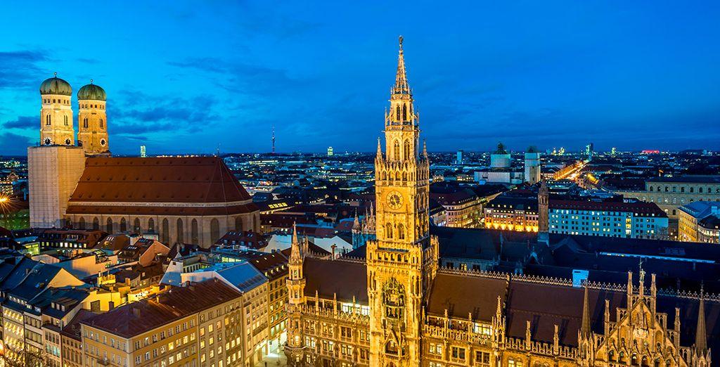 Tu primera parada será Múnich, capital de Baviera